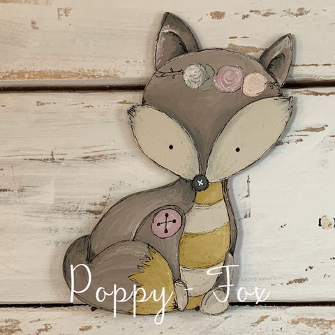 Personalised Animal Range - Poppy Fox Lg Plaque 9678