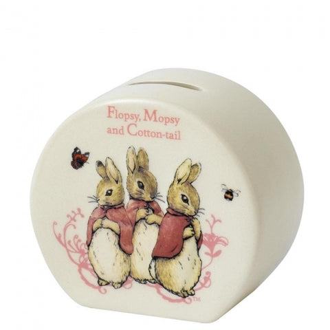 Beatrix Potter - Flopsy, Mopsy & Cottontail Money Bank 7856