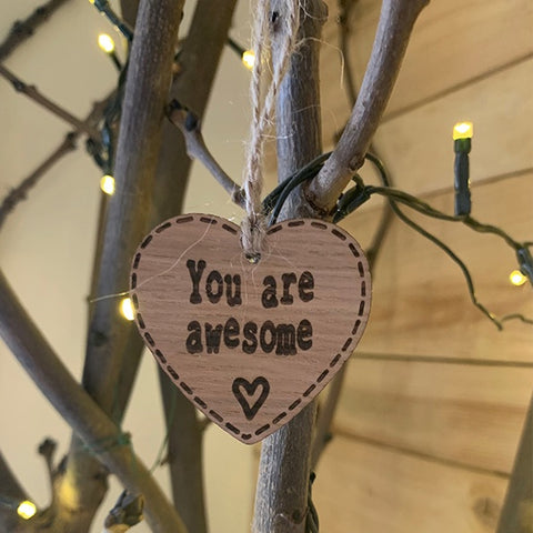 Handmade Little Sentiment Heart - You are Awesome 9997
