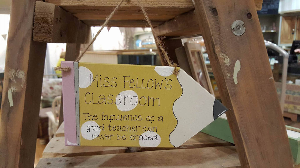 Personalised Pencil Plaque - Yellow 6281