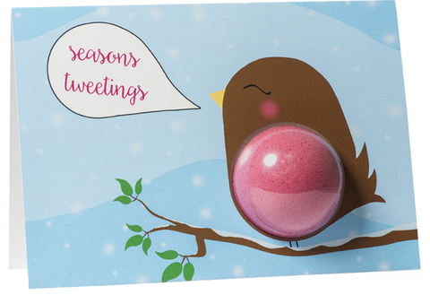 Christmas Card- Seasons Tweetings Robin 6858