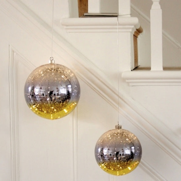 Glass Bauble Gold - 9275