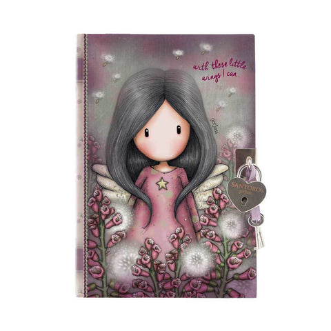 Gorjuss Little Wings - Lockable Journal with Heart Shaped Lock 10489
