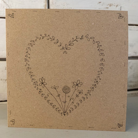 Personalised Card with Heart Wreath 9915