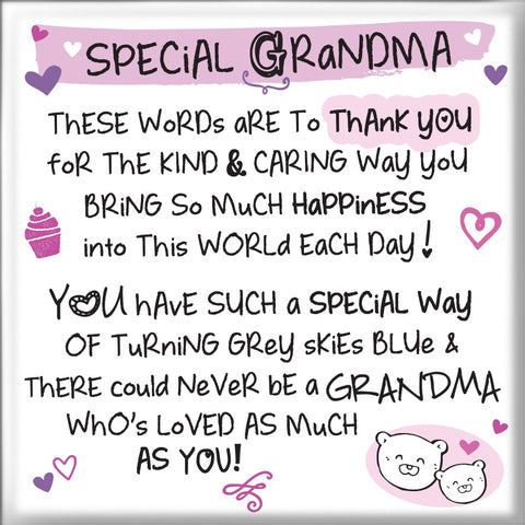 Inspired Words Magnet - Special Grandma 6465