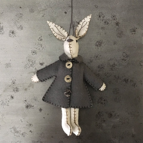 White Rabbit with Grey Jacket - Emily 9600