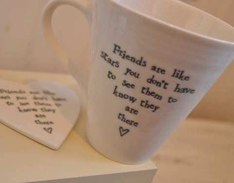 Porcelain Mug in Keepsake Box - Friends are like stars 331