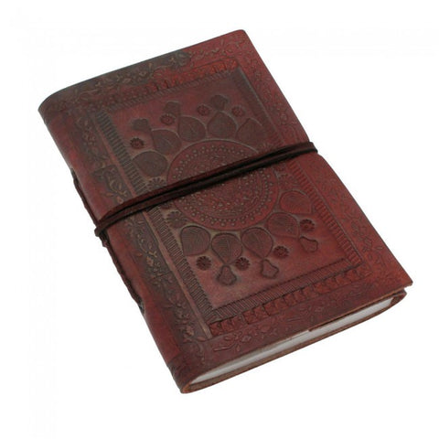 Medium Indra Embossed Single Leather Notebook 7522