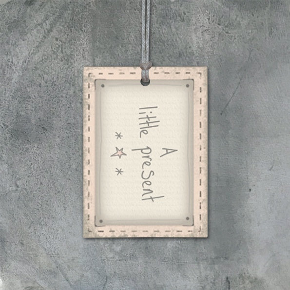 Pink Blush Gift Tag - A Little Present 9124