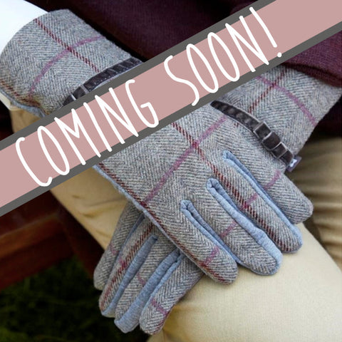 Earth Squared Heritage Tweed Gloves in Grey 9386