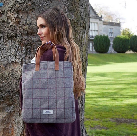 Earth Squared Heritage Tweed Harriet Bag in Grey 9383