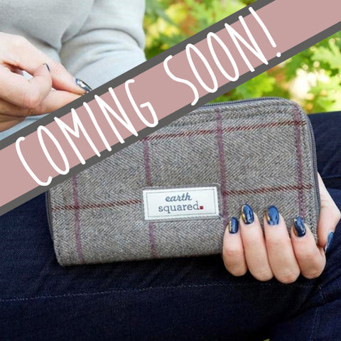 Earth Squared Heritage Tweed Wallet in Grey 9385
