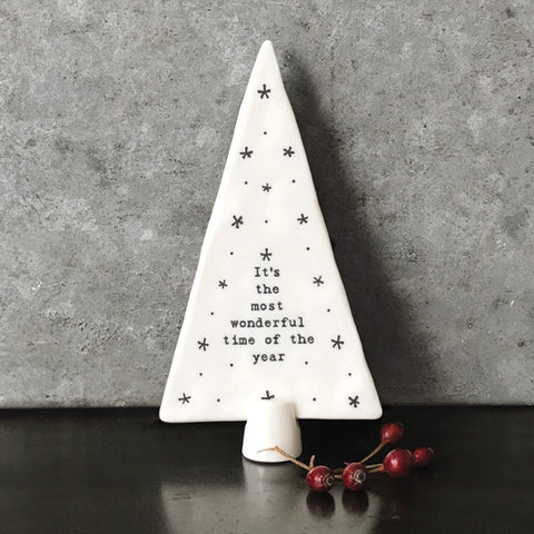 Standing Porcelain Christmas Tree - Most Wonderful 9317