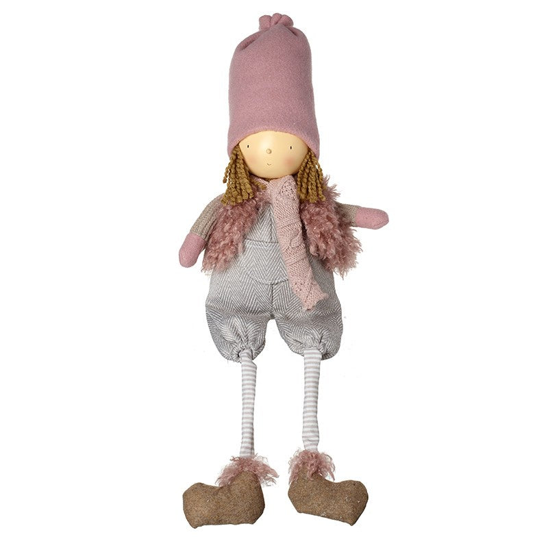 Sitting Girl in Long Pink Hat 10526