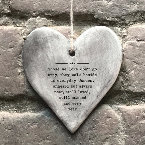 Rustic Hanging Heart - Those we Love 10645