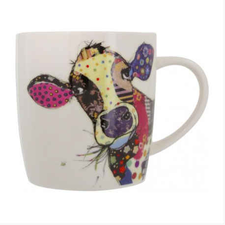 Bug Art China Mug in a Gift Box - Connie Cow 8237