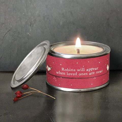 Red Robin Candle - Robins Appear 10570