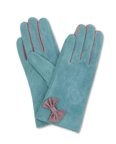 Glove - Gertrude Suede in Teal M/L 6878