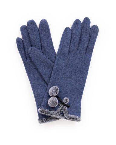 Powder Wool Gloves - Betty in Navy 9200