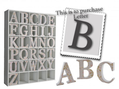 Wooden Grey Letter B 3474