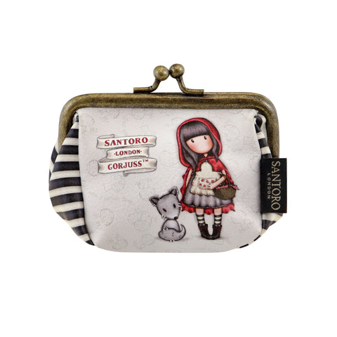 Gorjuss Puffy Clasp Purse - Little Red Riding Hood 8102