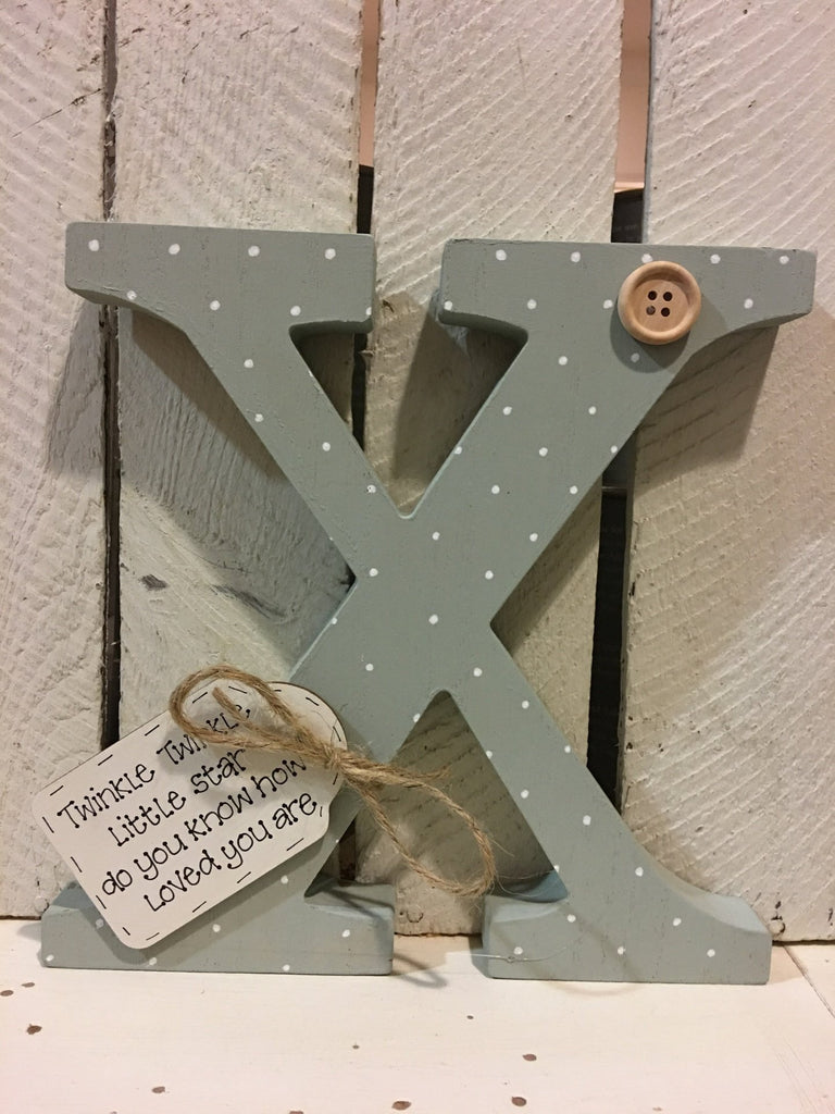 Large Wooden Personalised Letter - Polka Dot 6708