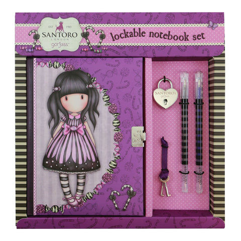 Gorjuss Lockable Notebook Set - Sugar & Spice 8466