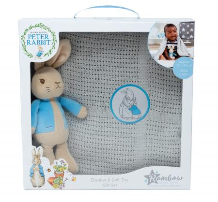 Beatrix Potter Peter Rabbit Toy & Blanket Set 8874