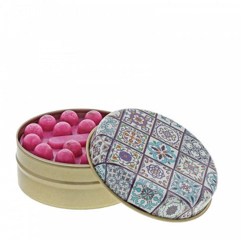 Myros Tin Soap - Pomegranate in Blue Tile 11266