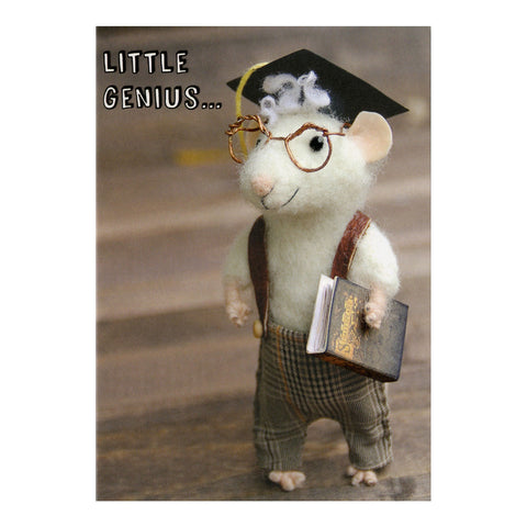 Tiny Squee Mousies Card - Little Genius 8122