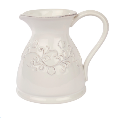 White Ornate Jug 10036