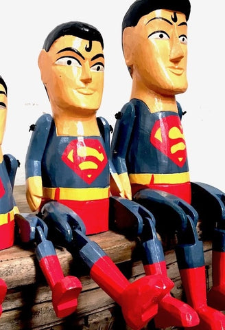 Wooden Superman 33cm 6760