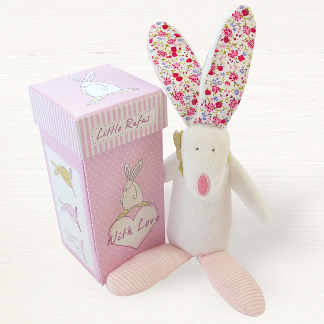Rufus Rabbit Girls Rattle & Box 2818