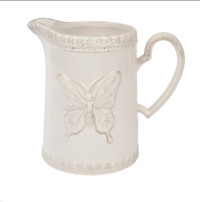 White Butterly Jug 10034