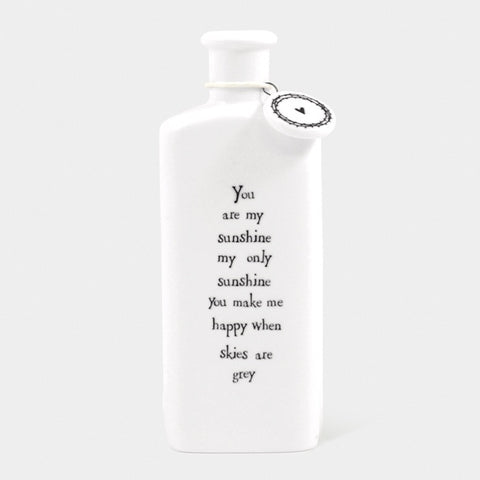 Porcelain Bottle - You are My Sunshine 3543