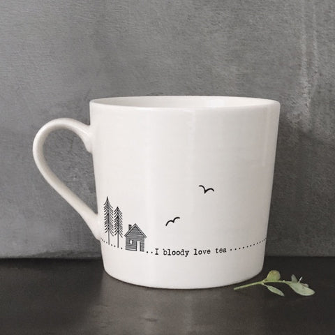 Porcelain Wobbly Mug - Bloody Love Tea 5722