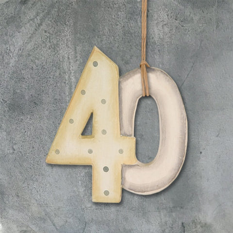 Number on String - '40' 838