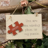 Personalised Md Sq Plq with Jigsaw Piece 9582