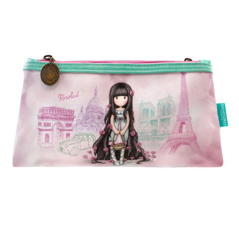 Gorjuss Double pencil Case - Rosebud 7504