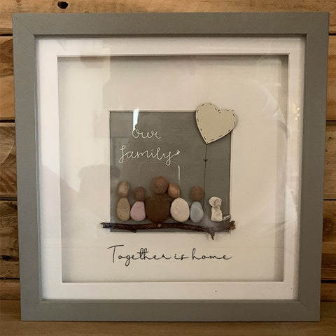 Pebble People Sm Box Frame - Family 11024