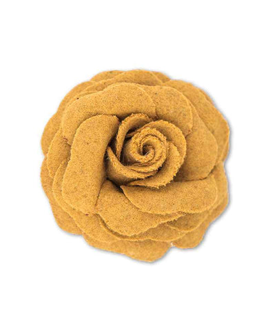 Brooch - Mustard Rose 6898