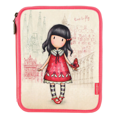 Gorjuss Double Filled Pencil Case - Time to Fly 8099