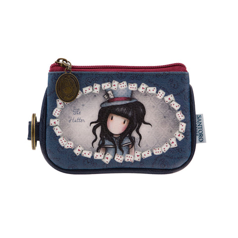 Gorjuss Keyring Zip Purse - The Hatter 8465