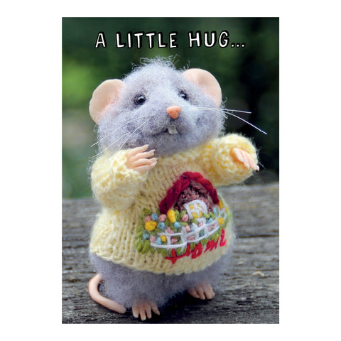 Tiny Squee Mousies Card - A Little Hug 8121