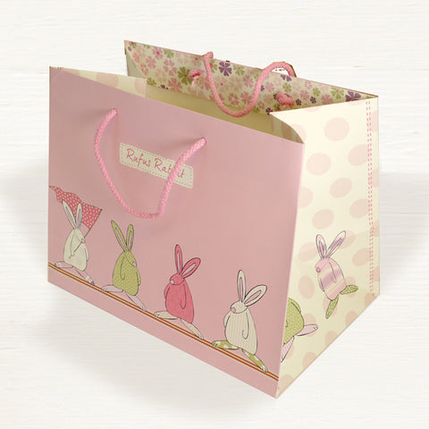 Rufus Rabbit Girl Lg Gift Bag 2828