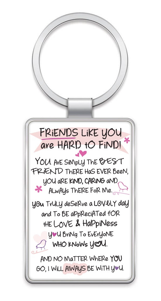 Inspired Words Keyring Friends Like You Oopsy Daisies