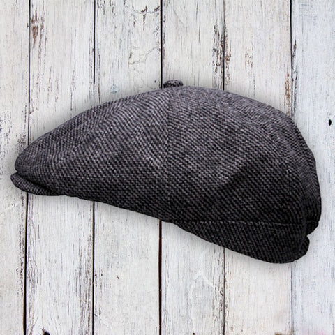 Peaky Stud Cap - Grey Tweed 10767