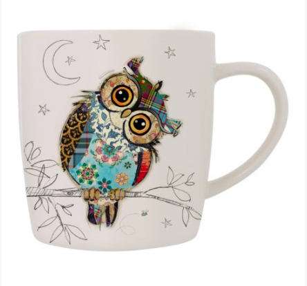 Bug Art Mug in a Gift Box - Owl 10244