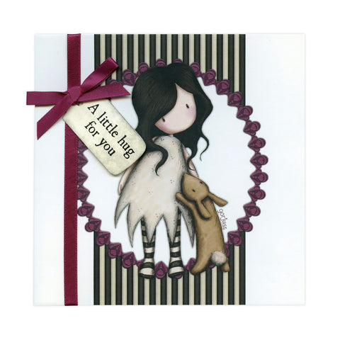 Gorjuss Greetings Card - A Little Hug 8956