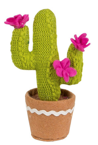 Colourful Fabric Cactus - Pink Flower 5823